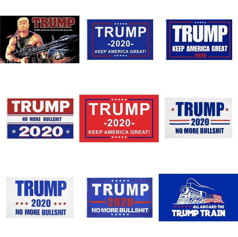 90 * 150см вечеринок Праздничная Usa партия Поставки Trump Flag Трамп 2020 Выборы Флаг цифровой печати Trump Баннер Флаги Zza1297-1 # 743