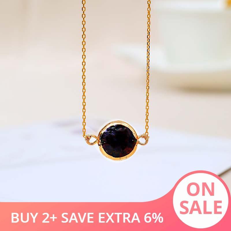 DAIMI 11-12mm colar preto Freshwater Pearl Pendant elegante 925 prata colar de corrente para as Mulheres