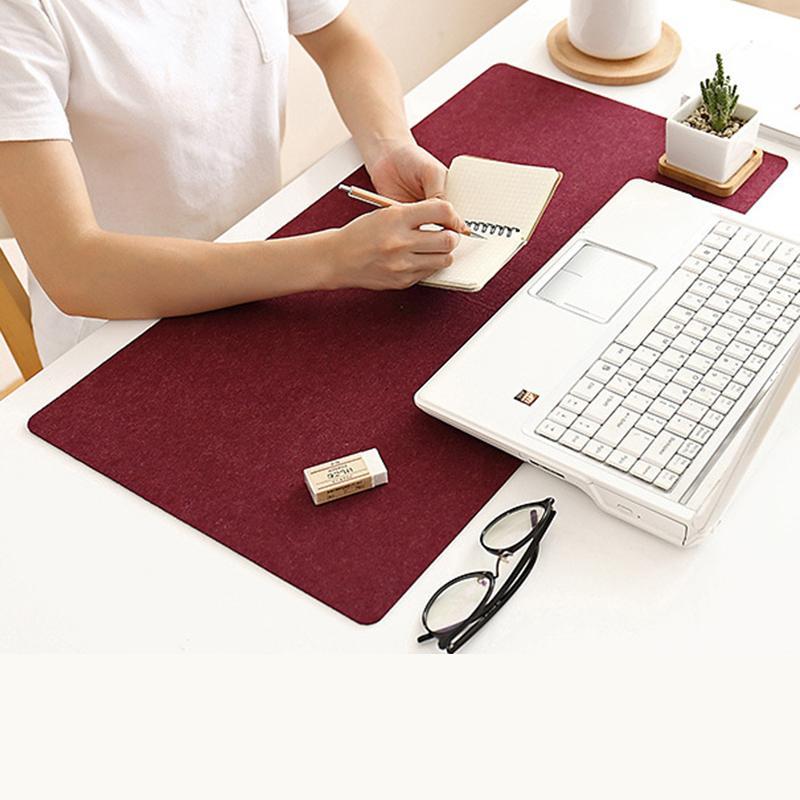 Large Soft Felt Cloth Desktop Mouse Pad Keyboard Office Laptop Notebook PC Table Mat Home Office Computer Desk Mousepad