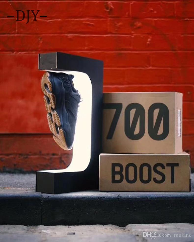 متجر المغنطيسى gedgets زجاجة العائمة حذاء عرض حامل المنزلية عرض عينة موقف يحمل 600G الوزن الارتفاع