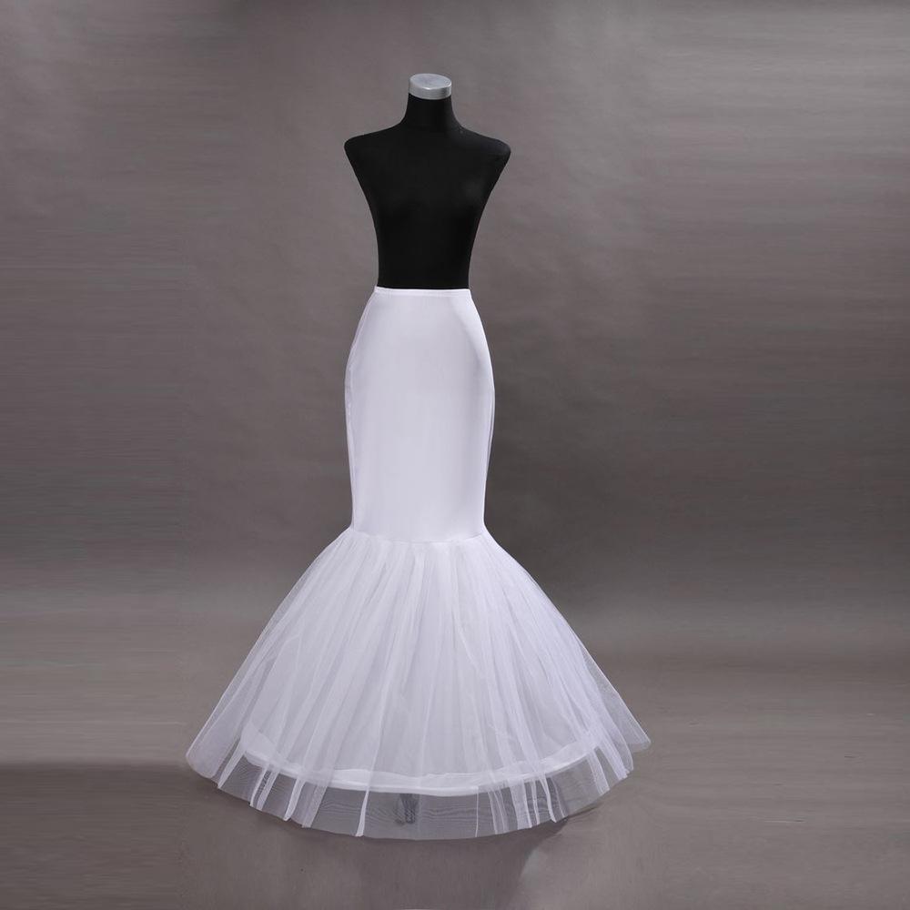 White Mermaid Bridal Crinoline Wedding Petticoat Slip Ruffle UnderSkirt Fishtail Petticoat for Special Occasion Fishtail Wedding Dresses