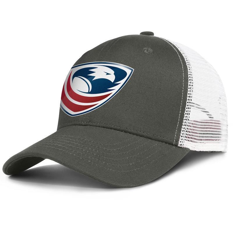 ABD Rugby Logo erkekler ve kadınlar için ayarlanabilir trucker meshcap tasarım spor takımı orijinal baseballhats ABD bayrağı Eşcinsel gurur Rainbower siyah