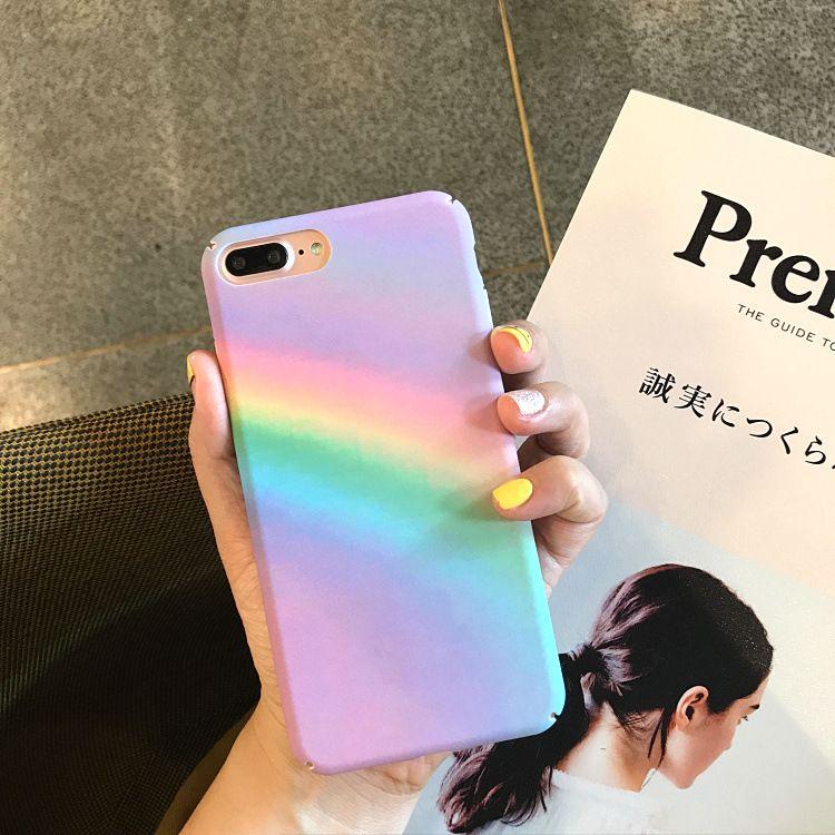 Красочная Радуга тонкий жесткий чехол для ПК для iPhone 6 6S 7 7S 8 Plus X 10 XR XS Max 5 5S 5SE для iPhone 6Plus 6SPlus 7Plus 8Plus крышка мобильного телефона