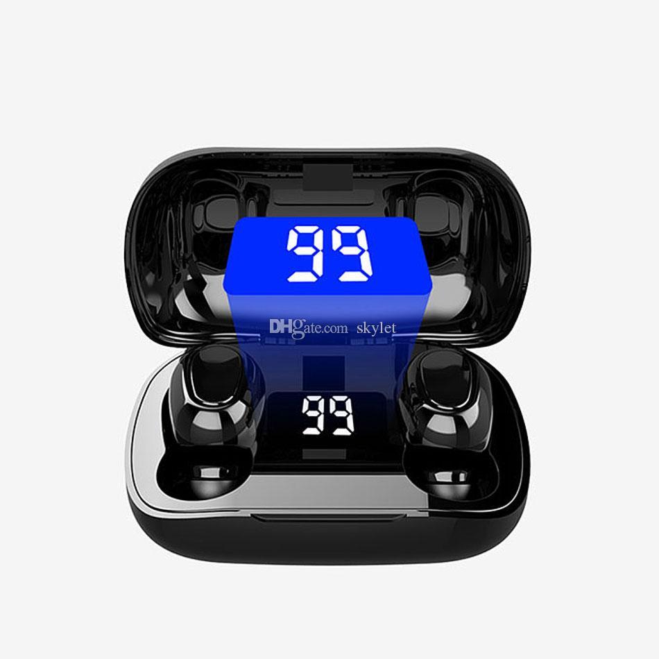 L21 Pro Bluetooth Earphones Wireless Earbuds Waterproof Headphones LED Display HIFI Sounds for Huawei Xiaomi in Box