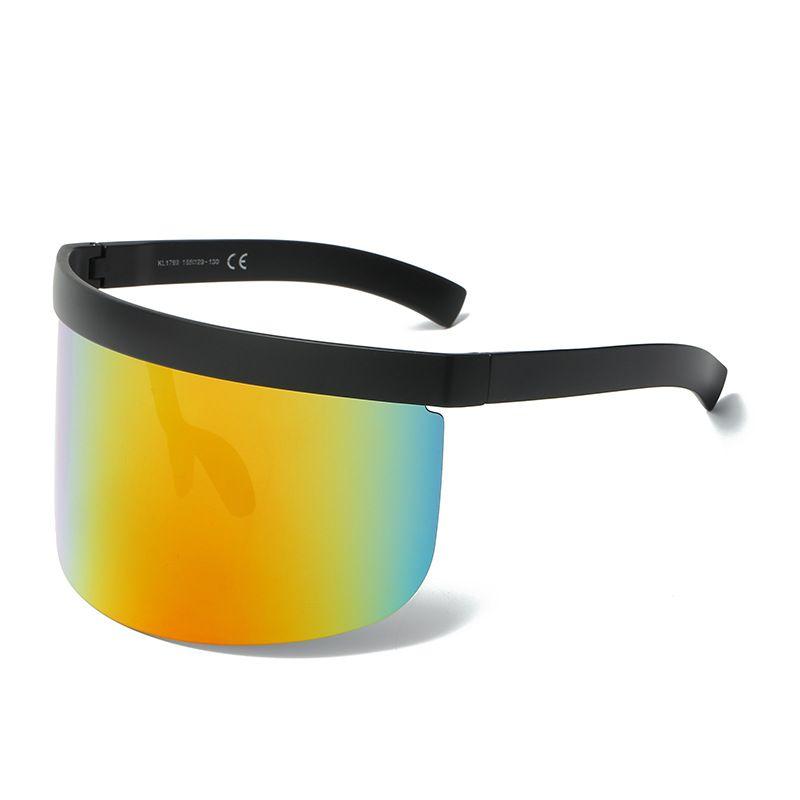 쿨 선글라스 안티 도촬 안경 얼굴을 커버 결합 된 렌즈 선글라스 큰