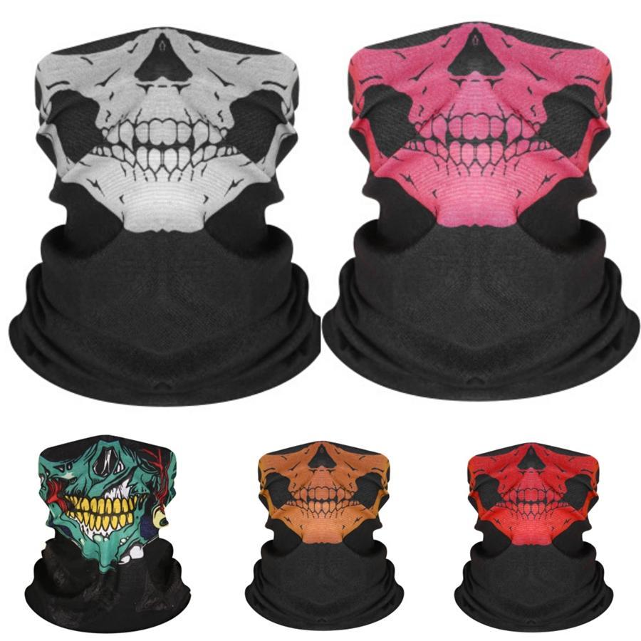 AQBwb antivento ciclismo unisex Skull Scarf maschera di protezione Collari magica protezione solare Skull Scarf multipla esterna seamless stile Cappello # 851