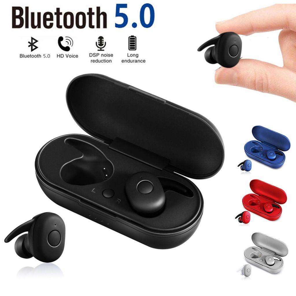 DT-1 TWS Earphones Wireless Bluetooth 5.0 Headset Earbuds Stereo Waterproof Sport In Ear Earphone Built-in Mic Auto Pairing Headphones