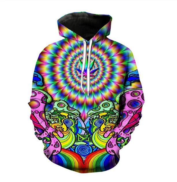 Designer New Summer Fashion Casual Hoodies Homens Mulheres 3D Hoodie com capuz Trippy Harajuku Pullovers R0577