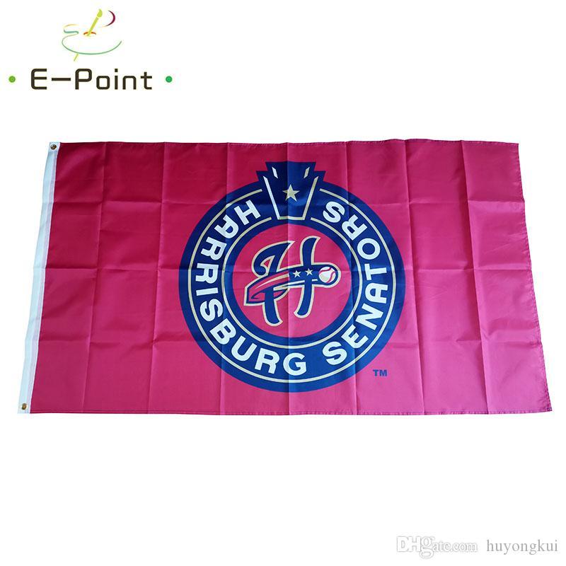 MILB Harrisburg Senators flag 3 * 5FT (90 см * 150см) Полиэстер баннер украшения летающие дома сад праздничные подарки