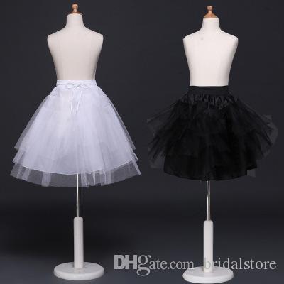 hot sale girls tutu skirt petticoats princess housemaid cosplay children tulle crinoline cheap white black kids pettiskirt for short dress
