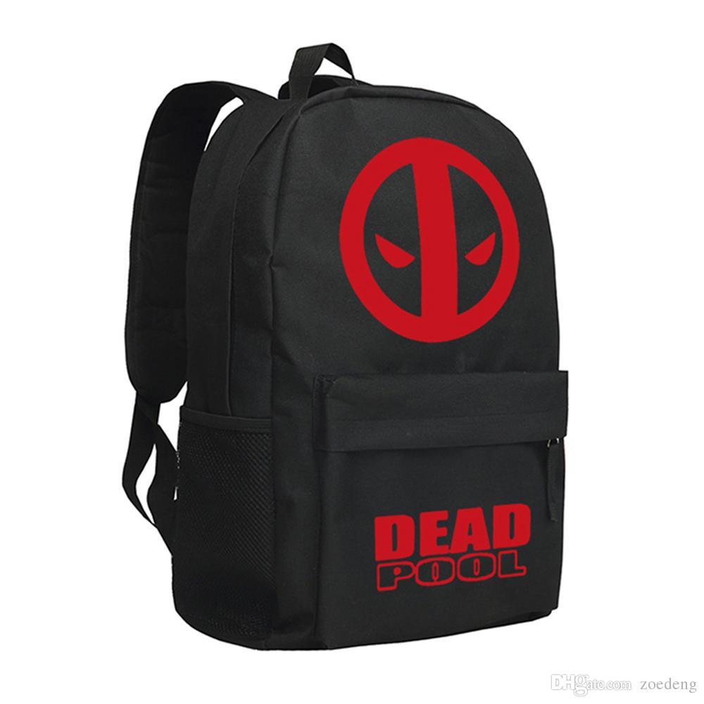 Deadpool Backpack Marvel Bookbags Unisex Satchels Shoulder Bags Travel Handbag