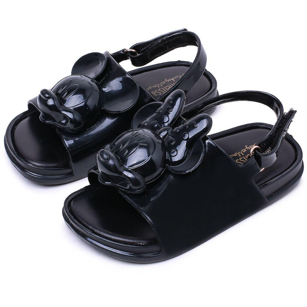 Melissa 2018 Three-dimensional Mini Twins Mouse Head Shoes New Winter Jelly Shoe Sandals Girl Non-slip Kids Sandal Toddler Y18110304