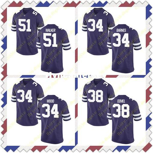 sports shoes 79a66 8ca0c 2019 Cheap Mens Alex Barnes Tanner Wood Jersey Winston Dimel Reggie Walker  State Wildcats Stitched Purple College Football Jerseys NCAA From ...