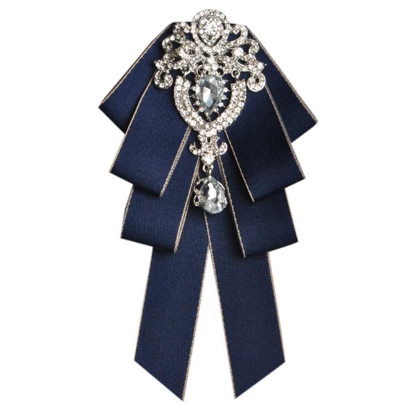 Moda erkek Papyon Seti erkek moda elmas high-end yay damat sağdıç düğün yaka aksesuarları kravat gül broş Cep havlu seti