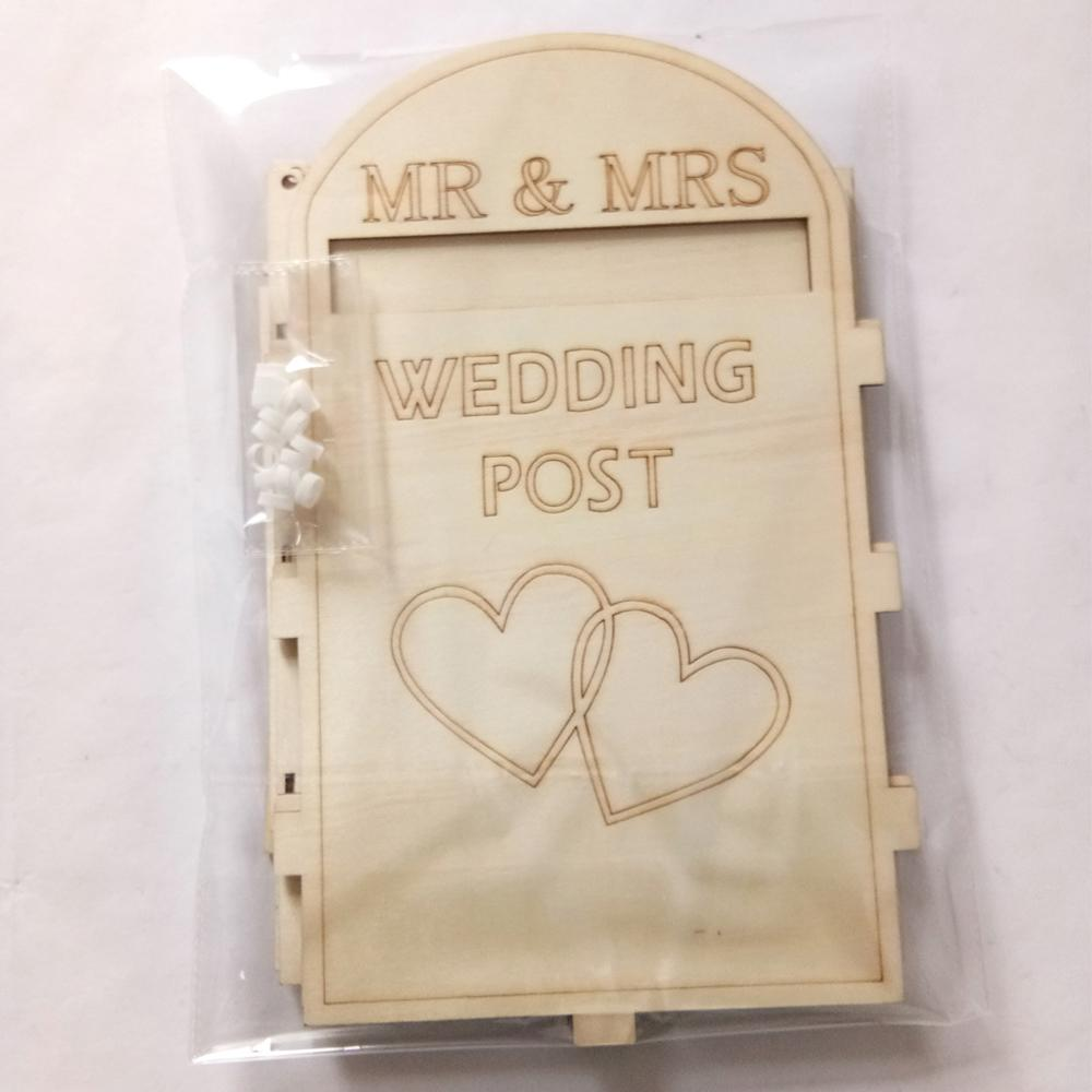 2019 nuove forniture di nozze di legno Wedding Post Box Royal Mail Styled creativo Letter Box Crafts ornamenti Decorazione per Cards