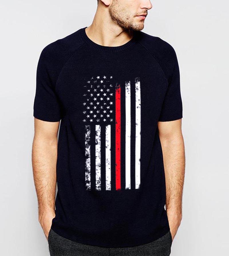ZSIIBO hombres y militar de la bandera de Estados Unidos de las mujeres impresión de alta calidad camiseta de la moda hip hop camiseta superior DYDHGMC195