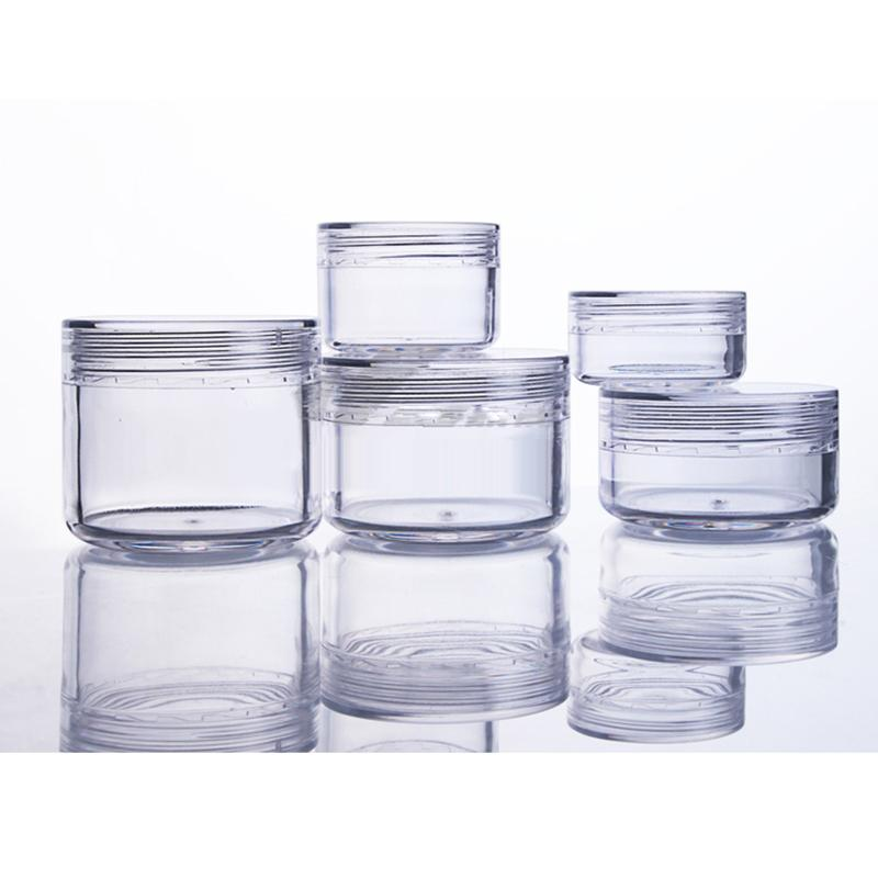 البلاستيك كريم 20PCS جرة التجميل الأواني حاويات إعادة الملء واضح استخدام اليومي عينيه صندوق تخزين للالتألق الجيل الثالث 3G 5G 10G 15G 20G