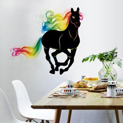 20190621 Autocolantes decorativos para bares e restaurantes de cor negra a cavalo