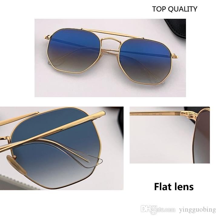 2020 الجديدة أعلى جودة الرجال النظارات الشمسية للجنسين نمط المعادن مفصلات UV400 فلاش عدسة ساحة خمر Oculos دي سول ذكر للمع 3648 حالة صندوق