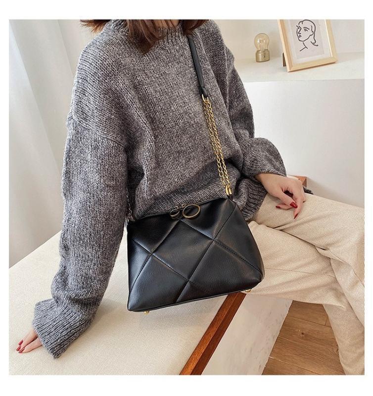 bolso 2020 nueva bolsa de mensajero bolsa de hombro de la manera de Corea del pequeño cuadrado de las mujeres