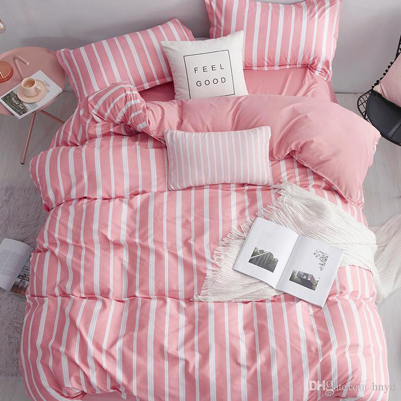 MENGZIQIAN Bedding Set 4-Piece, Stripes, California King,King,Full,Twin,Small single size,quilt sheet, Fashion Multicolor High Quality