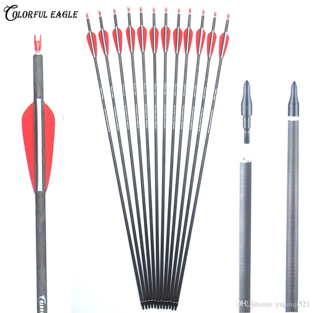 "Carbon Arrows 28/""//30/""//31/""  Practice Hunting Archery for Recurve or Compound Bow"