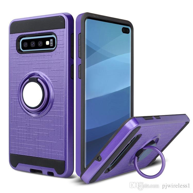 Para Samsung s10 s10e s10 plus Armadura híbrida Funda giratoria de 360 grados para teléfono del automóvil Soporte magnético Cubierta B