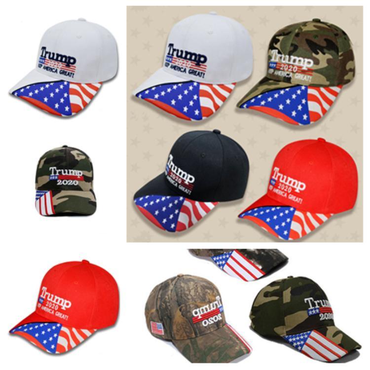 2020 Трамп камуфляж шляпа козырная шляпа держать сделать Америку великой шапка унисекс случайный козырь snapback крышка Бейсбол шляпы Шляпы для вечеринок T2C5050