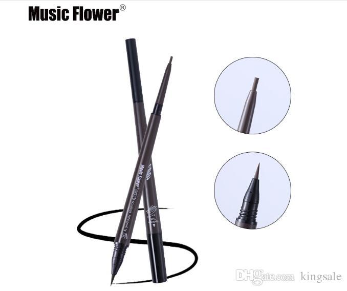 음악 꽃 눈 화장 매트 더블 헤드 눈썹 연필 + 액체 눈썹 색조 Waterpoof 오래 지속되는 천연 화장품