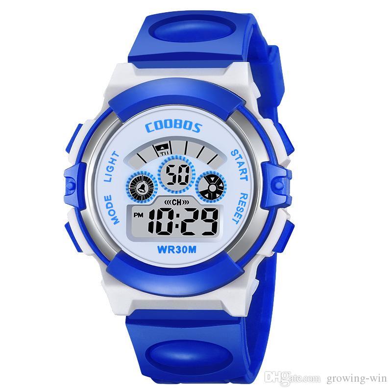Mode Multi-Funktions-Mädchen Kinder Kinder Junge Studenten Sport digitale elektronische Uhren Großhandel Freizeit-Parteigeschenk Armbanduhr