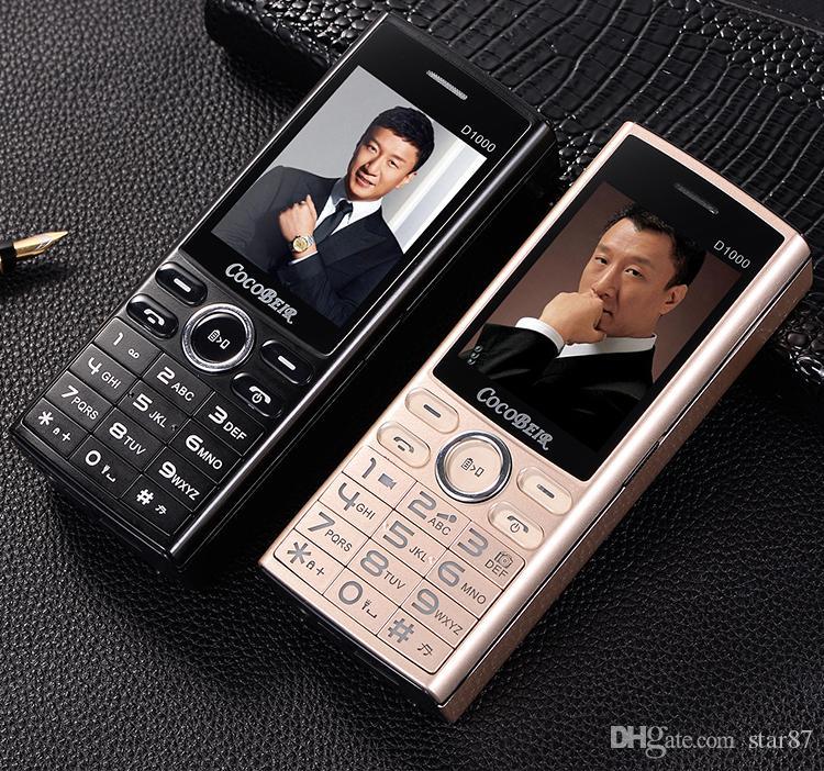 Luxury D1000 Push-botton Mobile Phone 2.4 Inch Dual sim Cellphone Quick Dial Cellular Flashlight MP3 FM Radio Power Bank Mobilephone