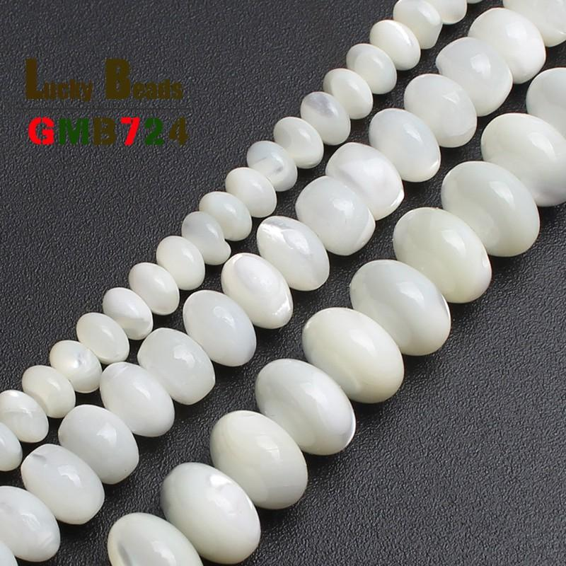 Natural White Mother Of Pearl Mop Shell Beads Loose Beads For Jewelry Making Bracelet Necklace 15 inches Diy Jewelry