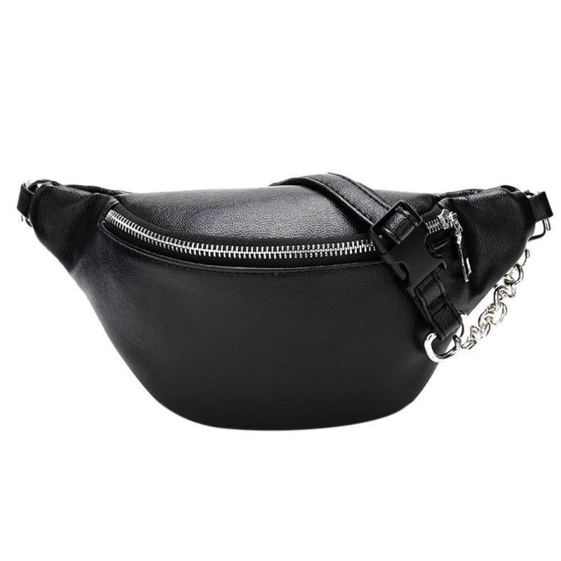 Peito Tote Casual externas portáteis Bolsas Belt Zipper PU Leather Bolsa cintura Packs Fabala Multifuncional Viagem cintura Bag