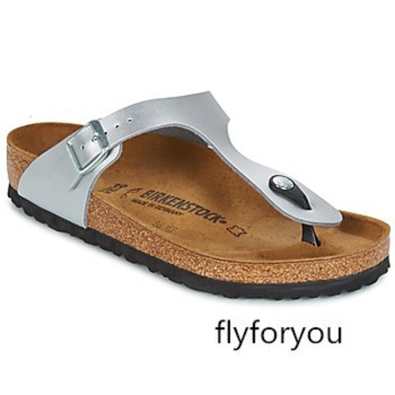 de las mujeres calza las sandalias zapatillas BK043851 fondo plano plata