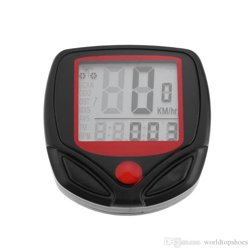 Waterproof 15 Function LCD Bike Bicycle Odometer Speedometer Cycling Speed Bicycle Odometer Speedometer Cycling Speed Meter #567560