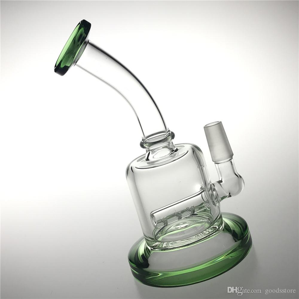 New 6.5 Inch 14mm Bong Water Pipes with Thick Pyrex Male Heady Glass Water Bongs Recycler Beaker Bongs Mini Travel Bongs