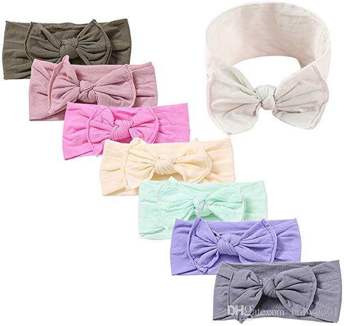 Baby Headbands Turban Knotted Girls Hairbands for Newborn Toddler and kids Elastic Stretchy Soft Hair Band