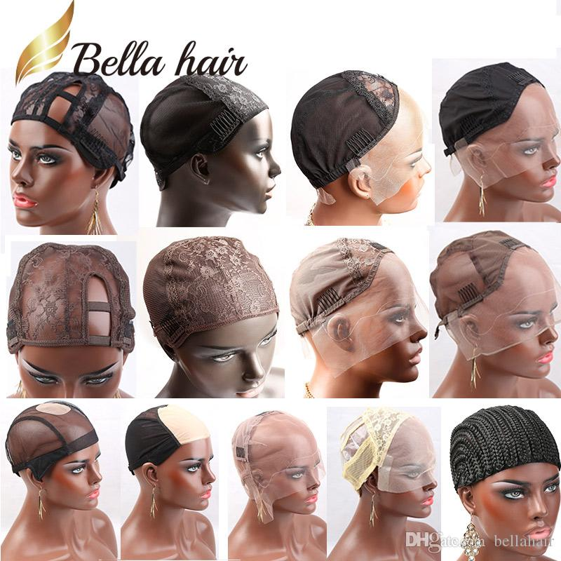 Bella Hair Professional Lace Wig Caps for Making Wig Different Types Lace Color Black/Brown/Blonde Swiss Lace Cap Size L/M/S