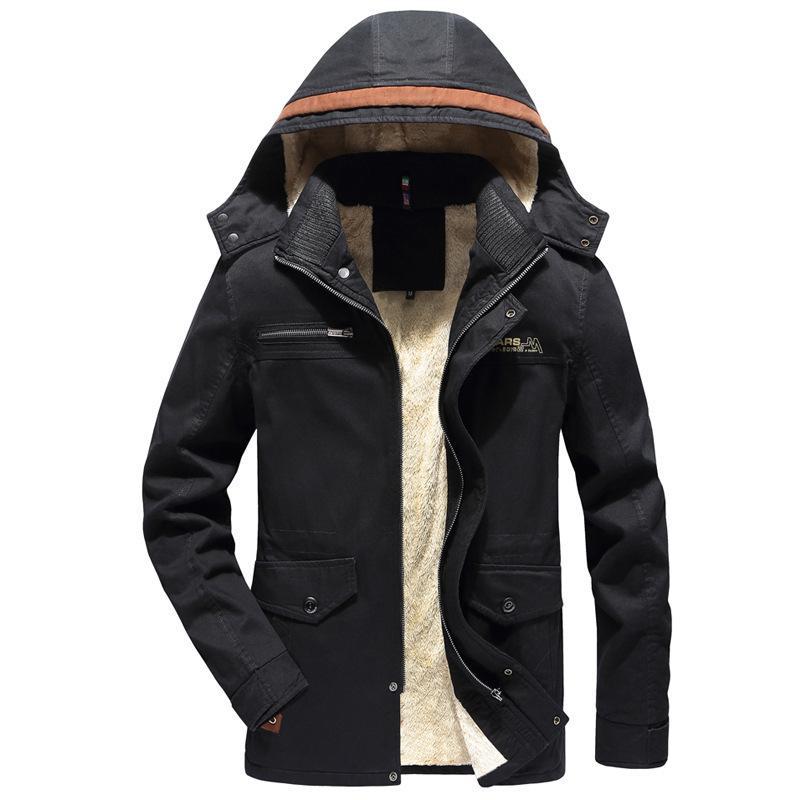 Invierno Hombres Will Code Increase Down Chaqueta de sombrero Will Code Wash Chaqueta cortavientos Even Hat Increase A Cashmere Loose Coat Expert masculino