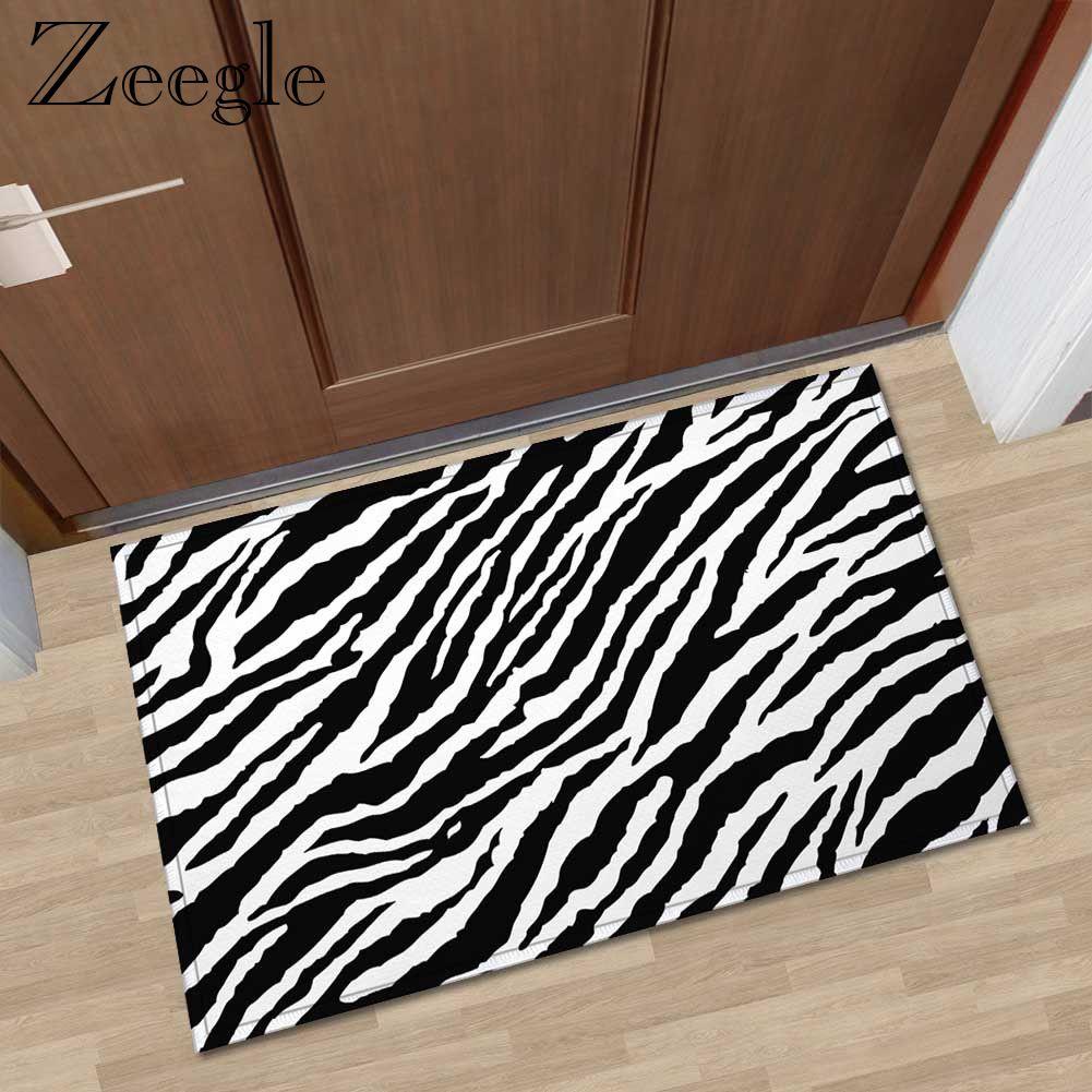 Zeegle Animal Printed Door Mat Rectangle Kitchen Anti-slip Rugs Home Decoration Non-slip Floor Carpet Soft Foot Mat
