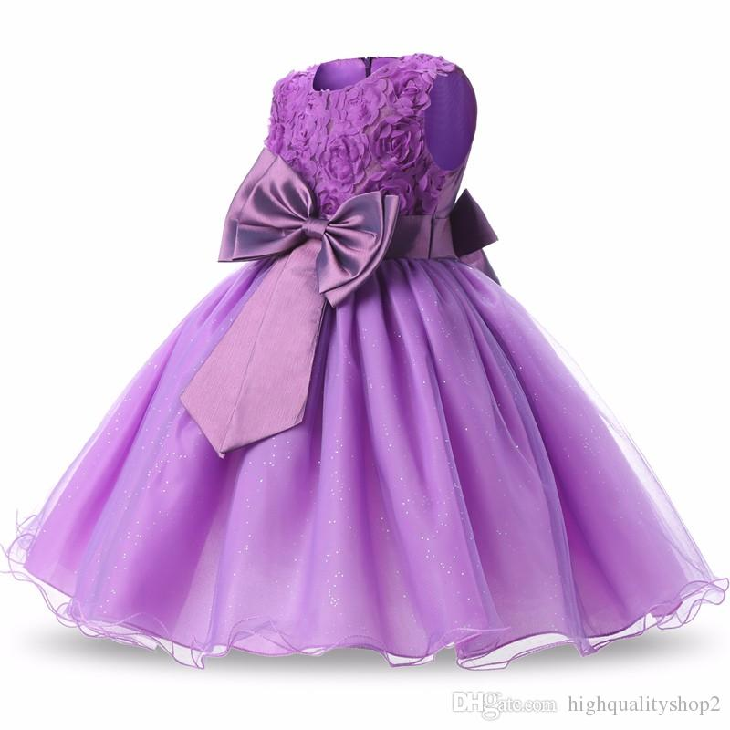 Flower Girl Dress Summer Tutu Wedding Birthday Party Kids Dresses For Girls Children's Costume Teenager Prom Designs