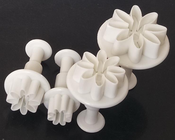5セットデイジーフラワーフォンダンプランジャーカッターケーキ装飾ツールケーキカッタープランジャー型焼付用器具ツール