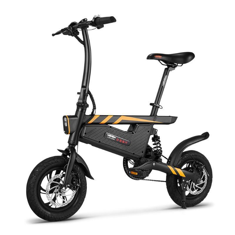 Новый электрический велосипед 12 дюймов Складной мощность Assist Электрический велосипед E-Bike 250W двигателя и двойной дисковые тормоза Bicicleta Eletrica