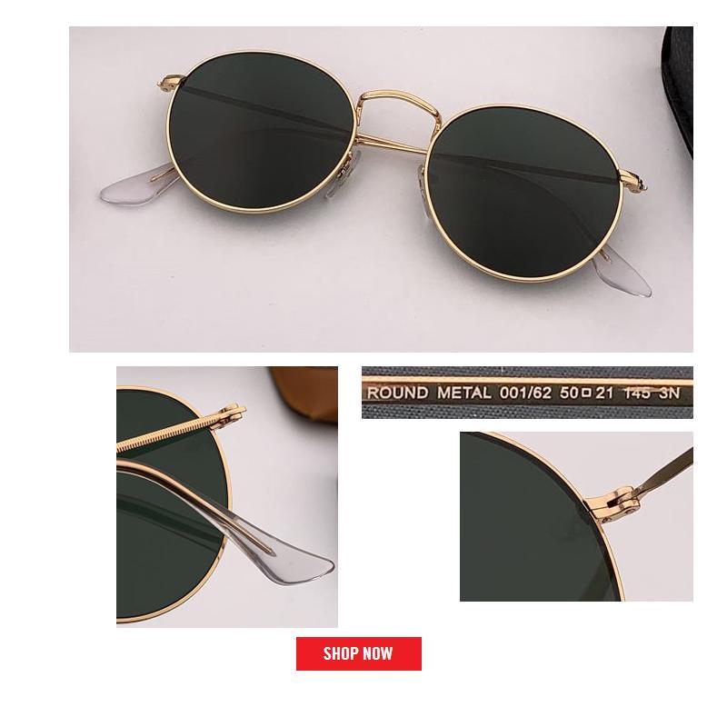 Atacado-clássico círculo de metal óculos de sol rodada estilo espelhado rosa gafas matt moldura de ouro lente reflexiva mulheres moda 50mm UV400 lente