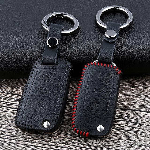 Volkswagen Tiguan mk2 için katlanır araba uzaktan anahtar kutu 2017 2018 Magotan Pa Araba için anahtar durumda Su Geçirmez kılıf Silikon kılıf ...
