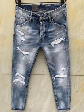 Nuovo stile di marca degli uomini dei jeans denim Jean ricamo Tiger Pantaloni Holes Jeans Zipper Pantaloni Uomo Jeans aderenti uomini 00012fed #
