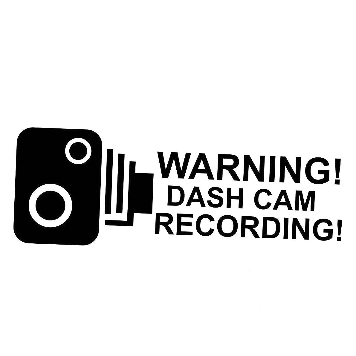 Çıkartma - Uyarı Dash Kamera - Güvenlik Pencere Sticker Şeffaf İç Vinil Hobi Araç Tampon etiketi