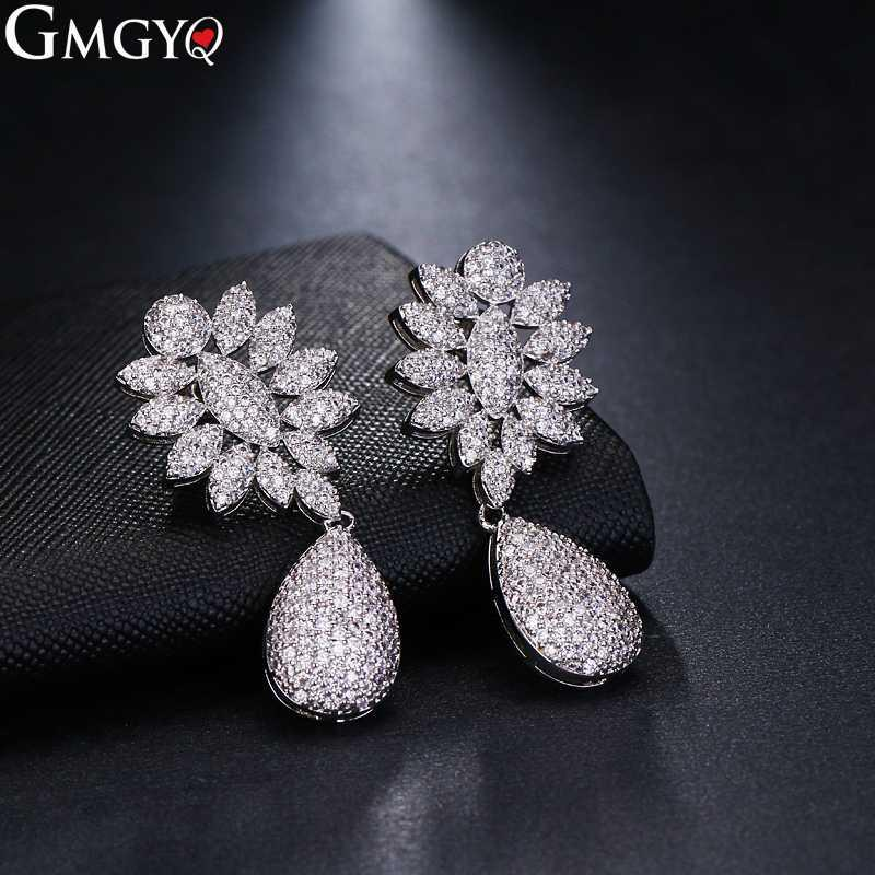 GMGYQ New Arrival Earrings Aretes De Mujer Modernos 2018 Con Cristales Earrings For Women Banquet Accessories