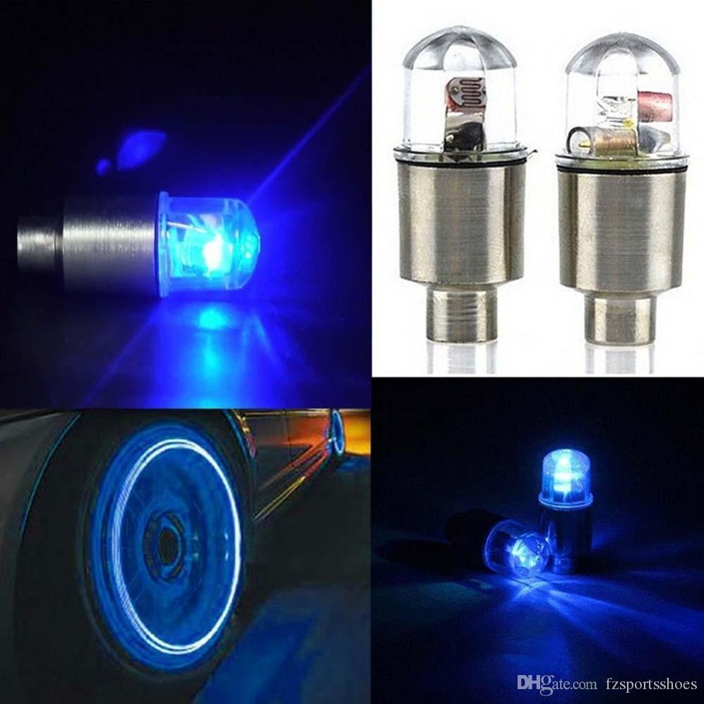 2pcs Lamp Wheel Valve Stem Cap Tire Motion Neon Light LED Bulb For Bike Bicycle