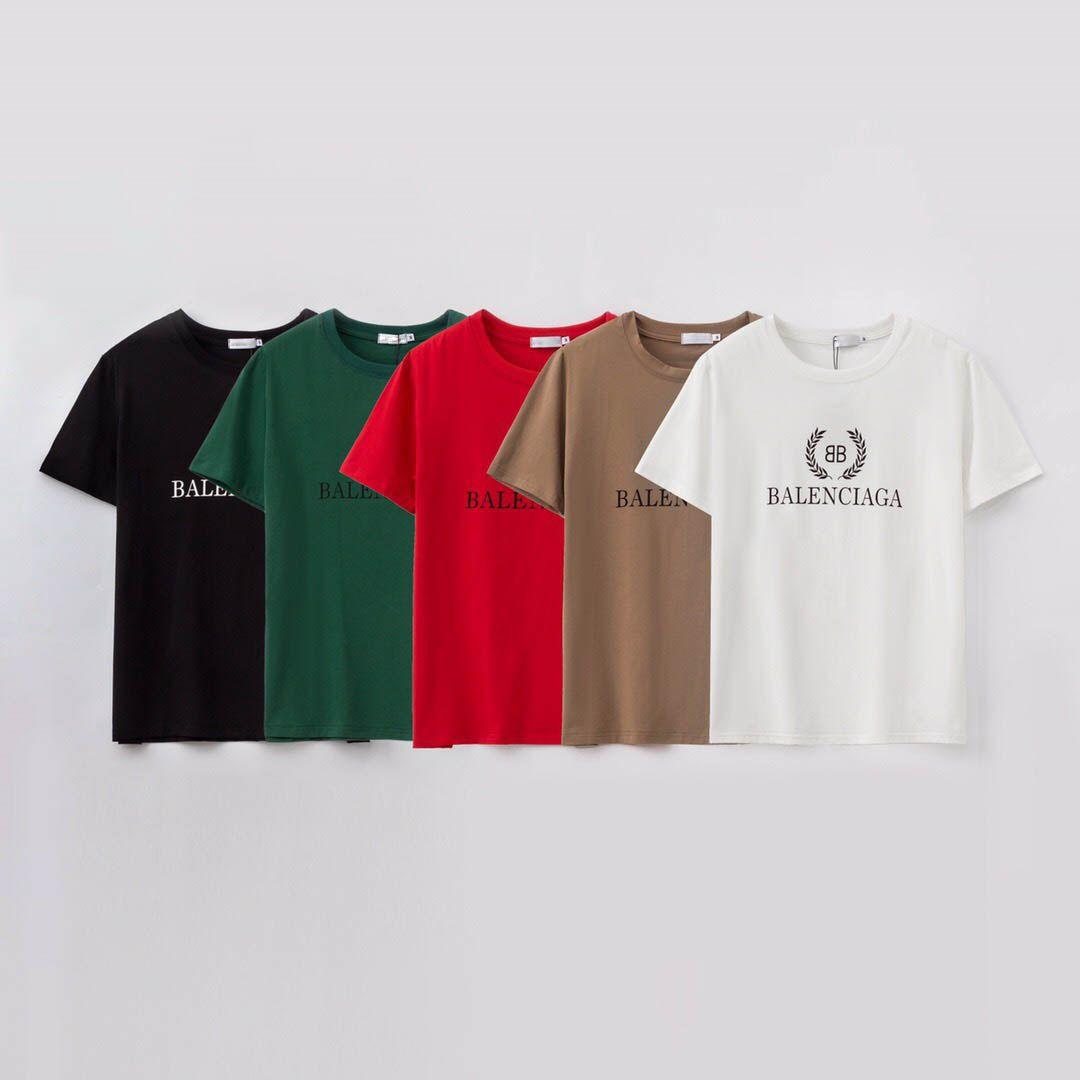 Men's fashion brand T-shirt summer o-neck short-sleeved men's designer T-shirt men's printed cotton T-shirt 5 colors